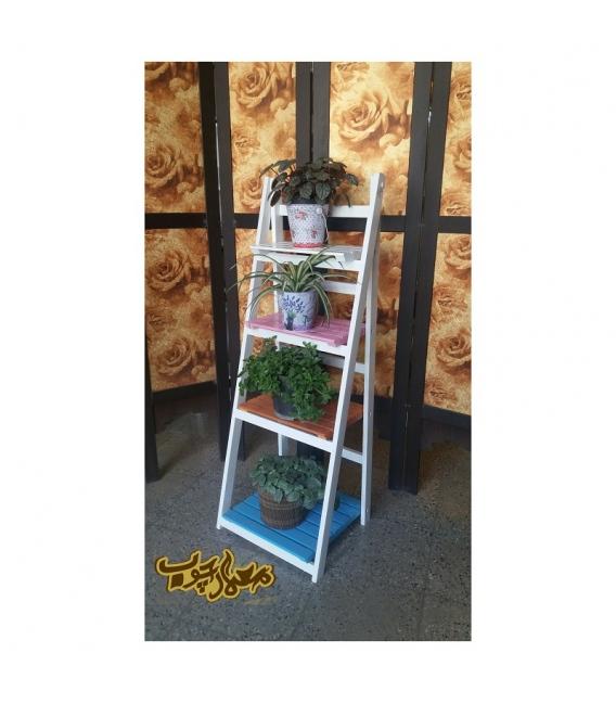 فروش استند گلدان چوبی