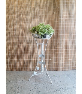 پایه گلدان تکی فلزی